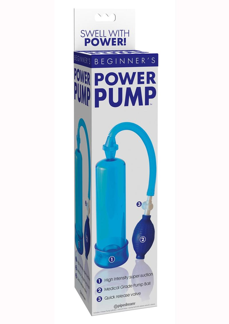 Beginner`s Power Penis Pump - Blue