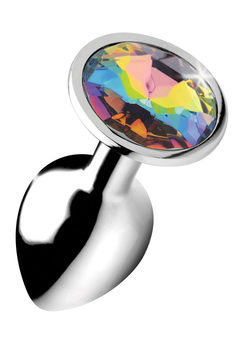 Booty Sparks Rainbow Prism Gem Anal Plug - Small **Special Order**