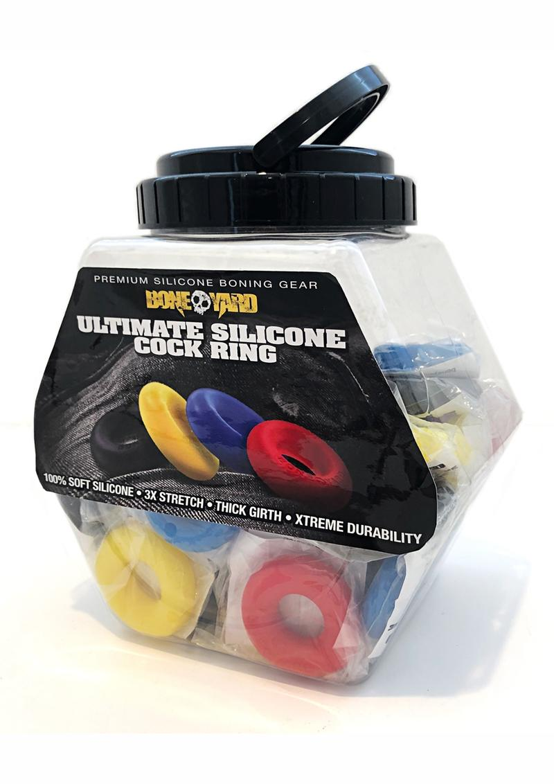 Boneyard Silicone Ultimate Ring Assorted (50 Per Bowl)