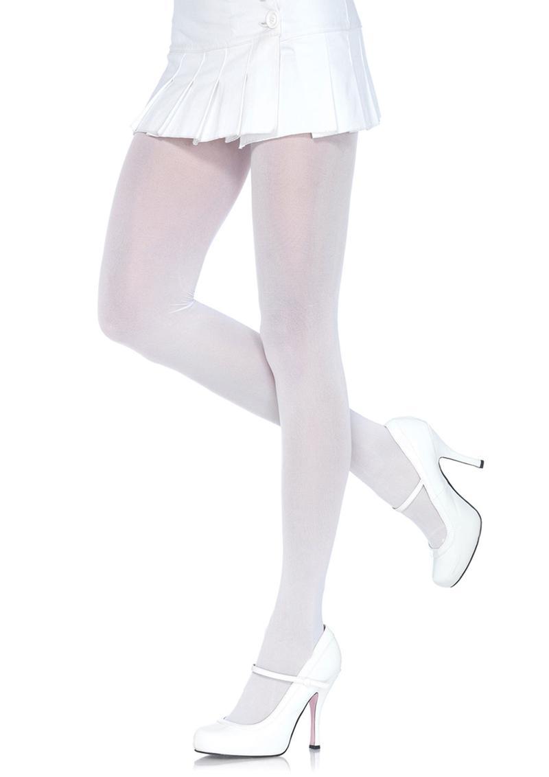Leg Avenue Nylon Tights - O/S - White