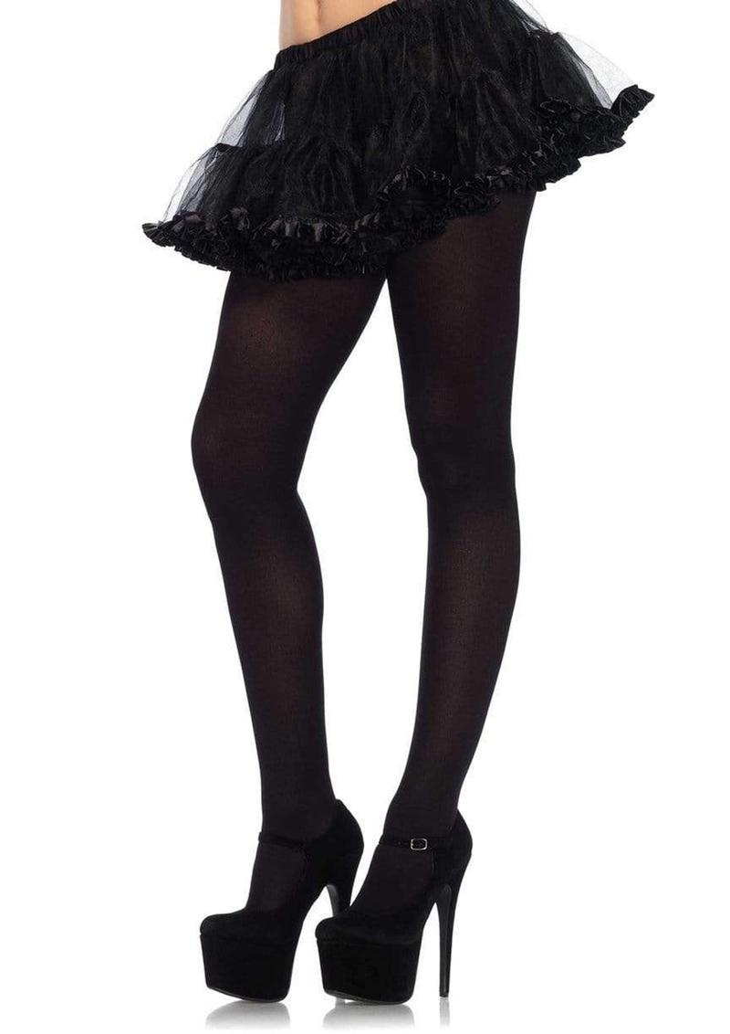 Leg Avenue Nylon Tights - Plus Size - Black