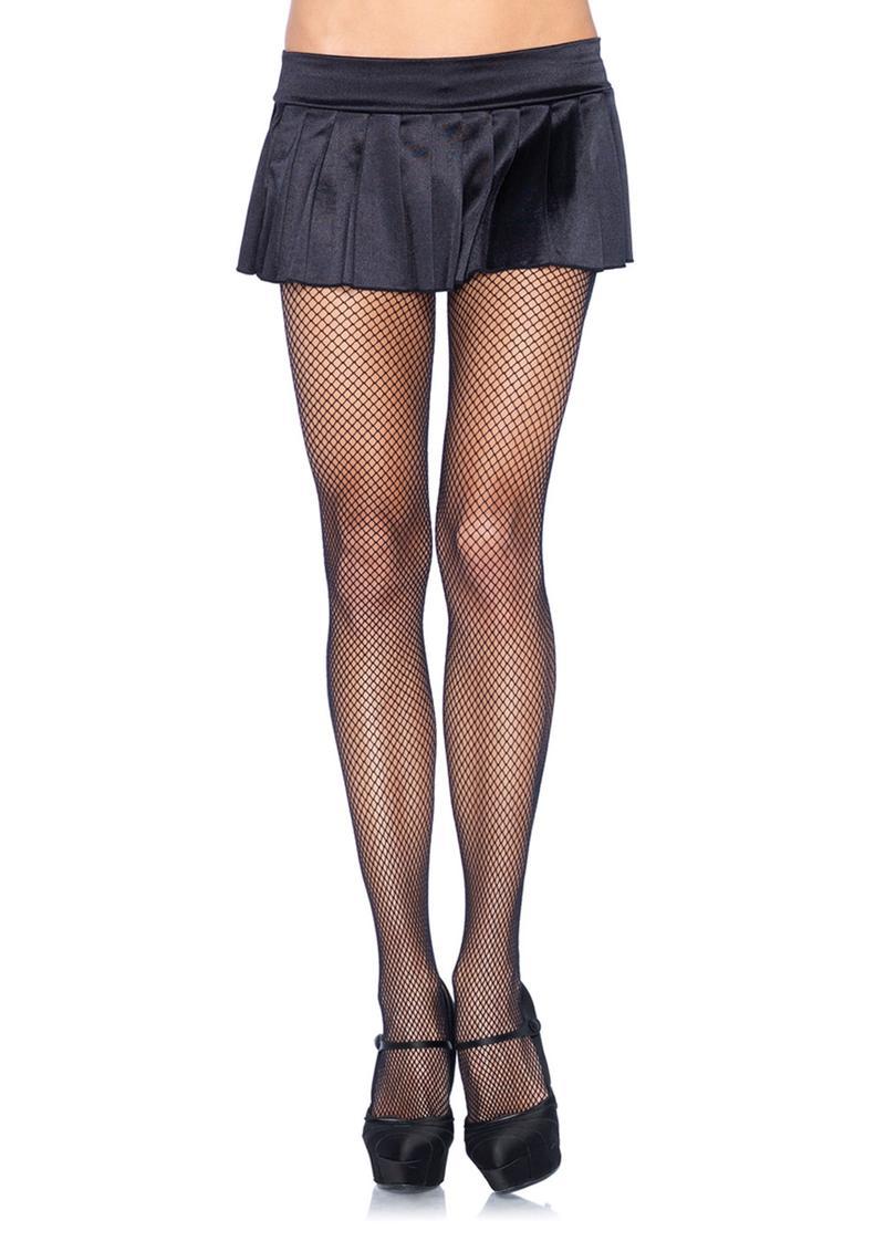 Leg Avenue Spandex Fishnet Pantyhose - O/S - Black