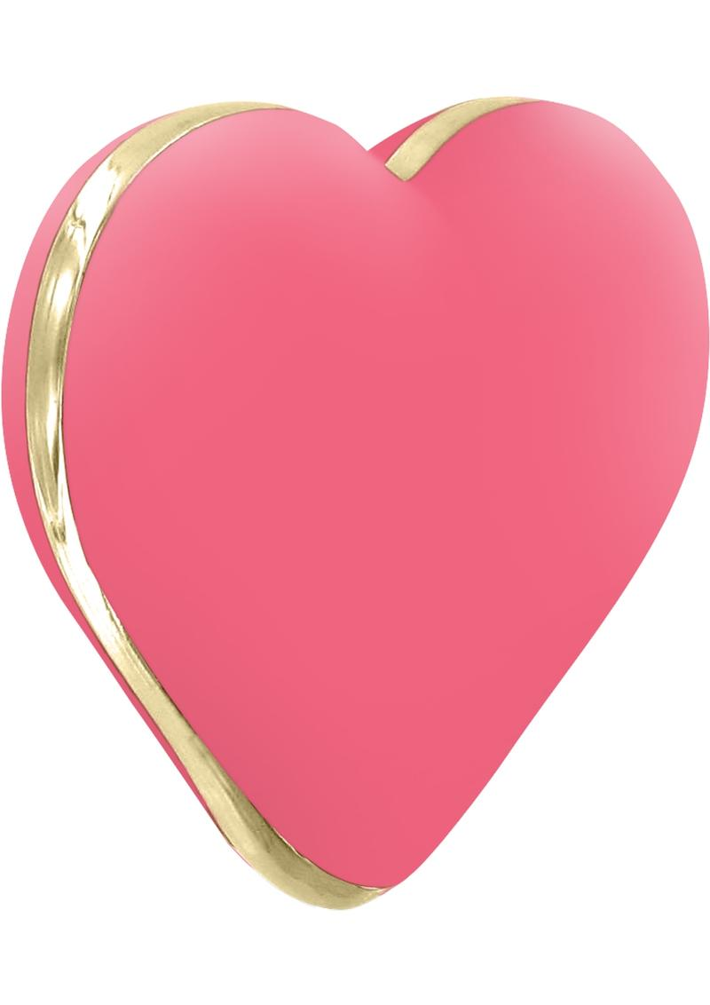 Rianne S USB Rechargeable Silicone Heart Vibe Coral Rose