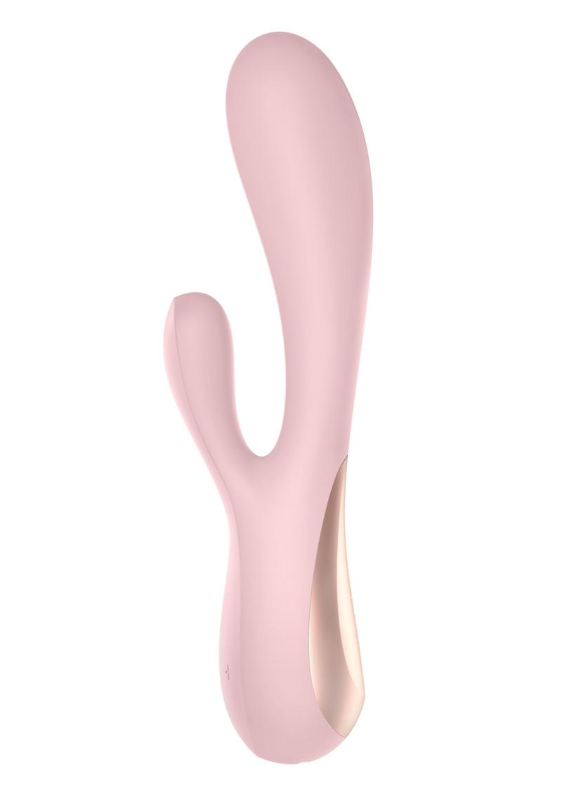 Satisfyer Mono Flex Rechargeable Silicone Rabbit Vibrator - Pink