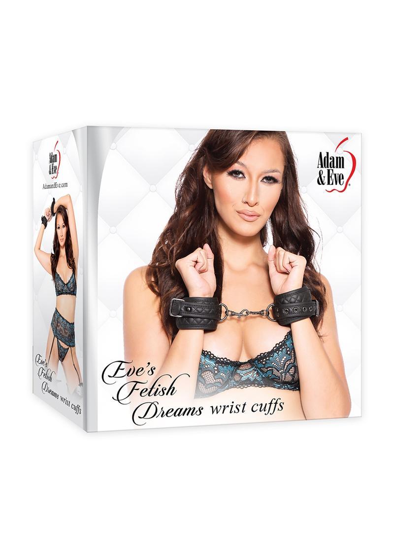 Adam andamp; Eve Eve`s Fetish Dreams Wrist Cuffs - Black