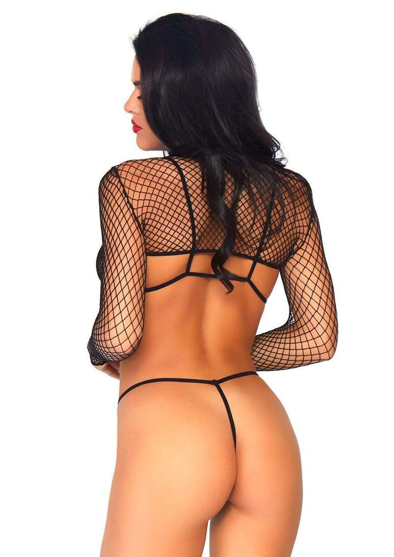 Leg Avenue Industrial Net Bikini Top