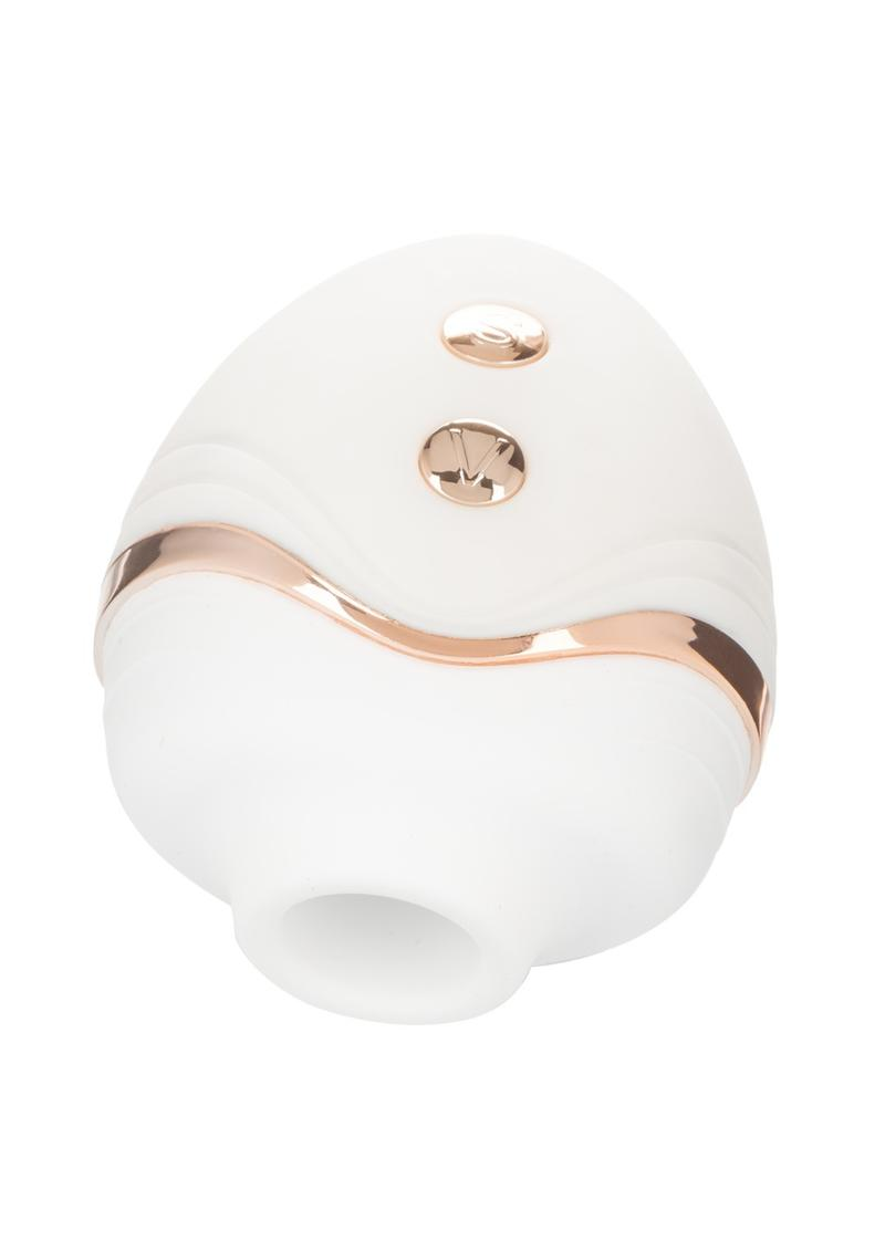 Empowered Palm Pleasure Goddess Silicone Rechargeable Stimulator - White
