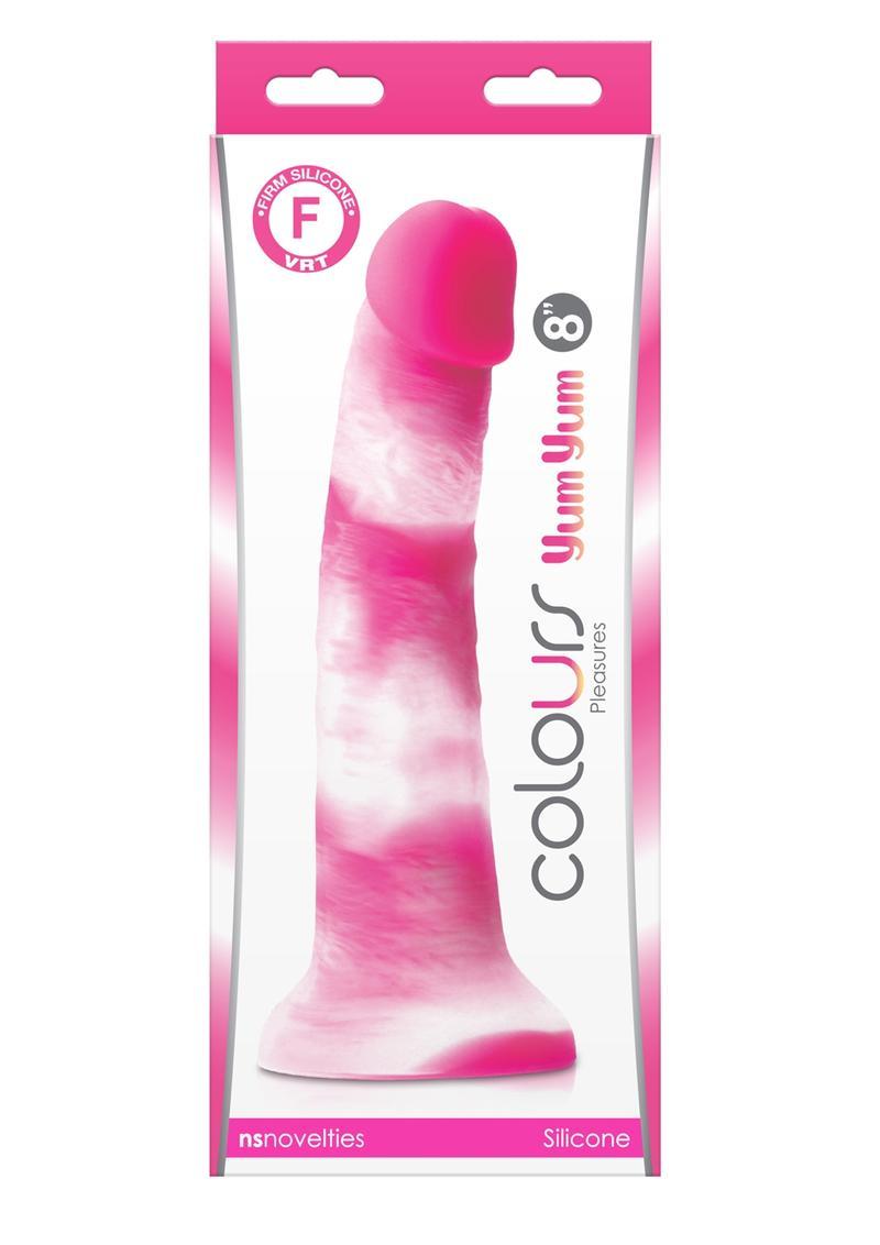 Colours Pleasures Yum Yum Silicone Dildo 8in - Pink