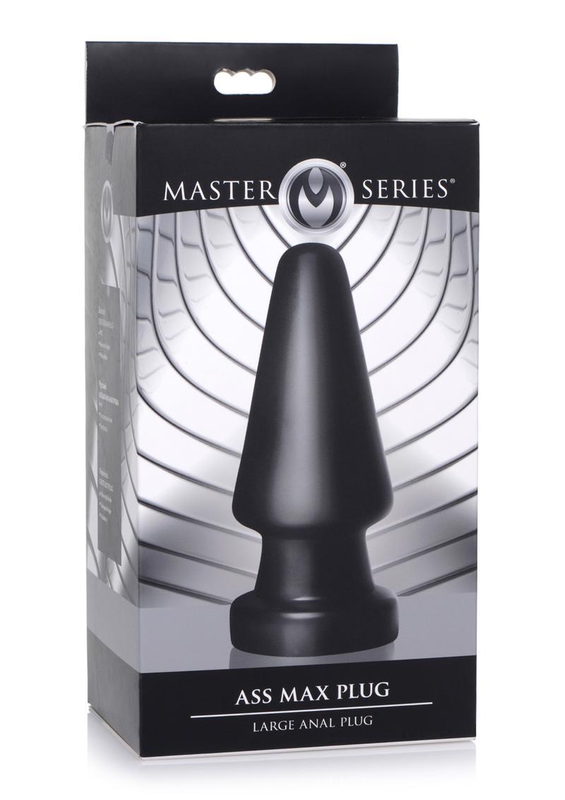 Master Series Ass Max Anal Plug - Large - Black