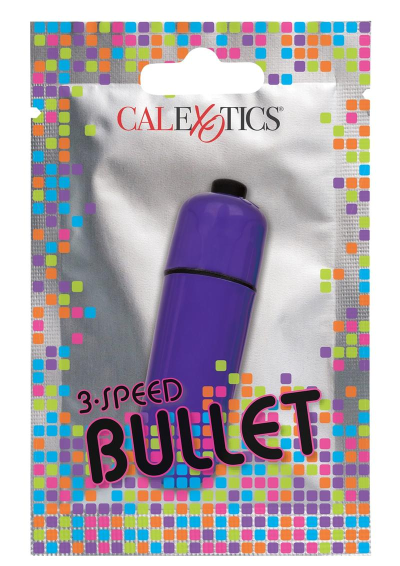 Foil Pack 3-Speed Bullet Vibrator - Purple