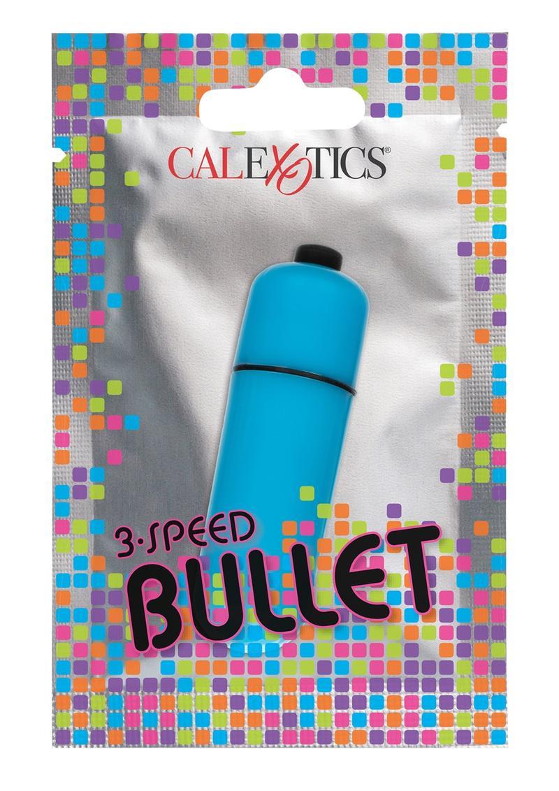 Foil Pack 3-Speed Bullet Vibrator - Blue