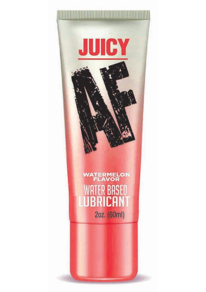 Juicy AF Water Based Flavored Lubricant Watermelon 2oz.