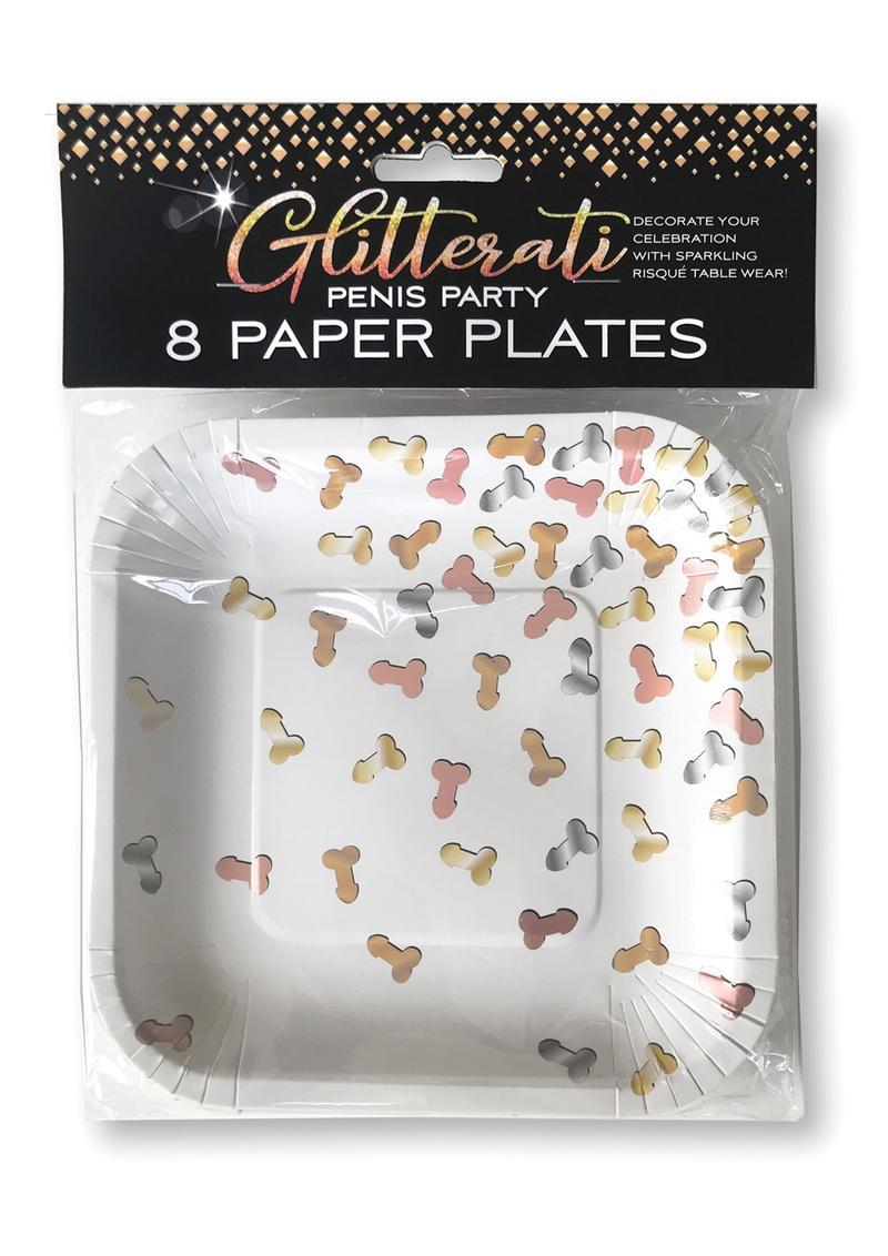 GLITTERATI PLATES 8PK