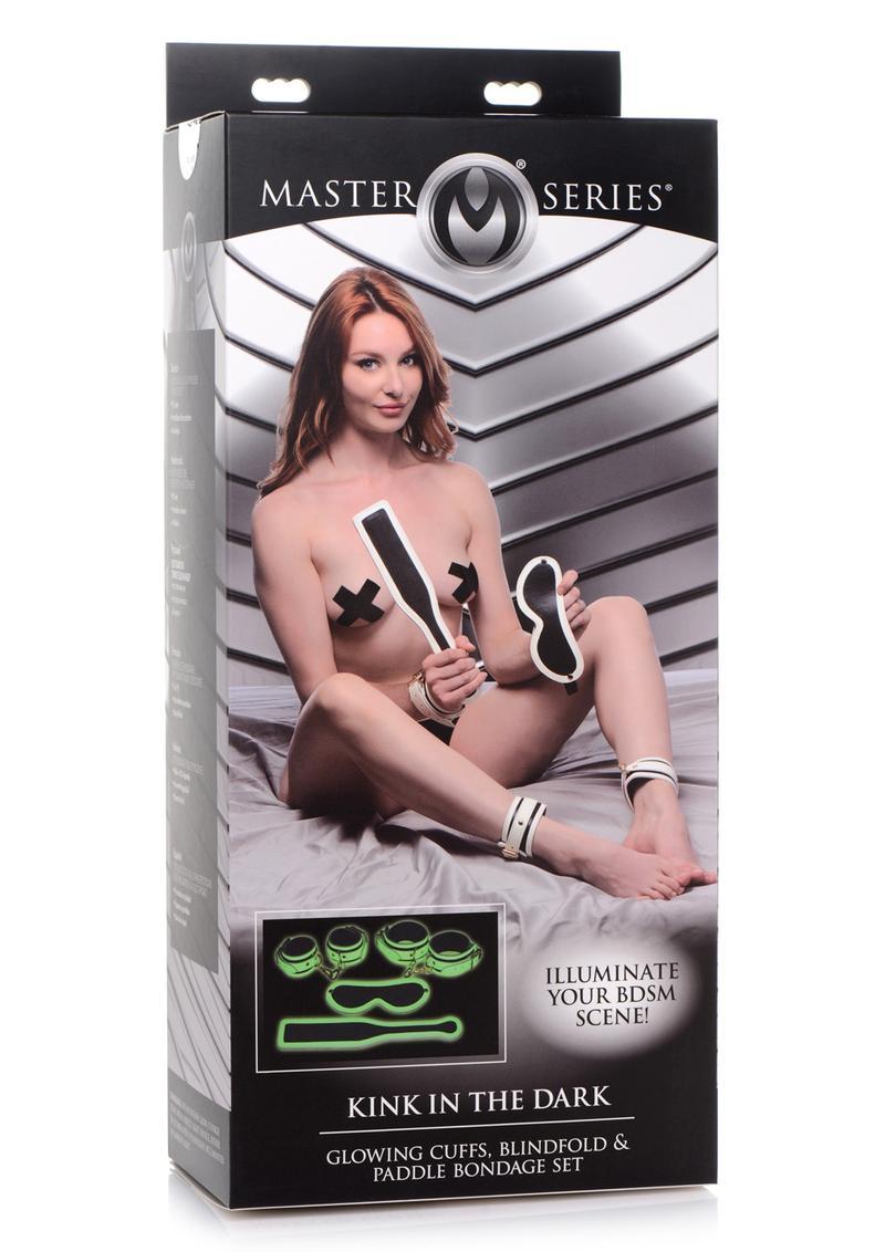 Master Series Kink in the Dark Glowing Bondage Set - White