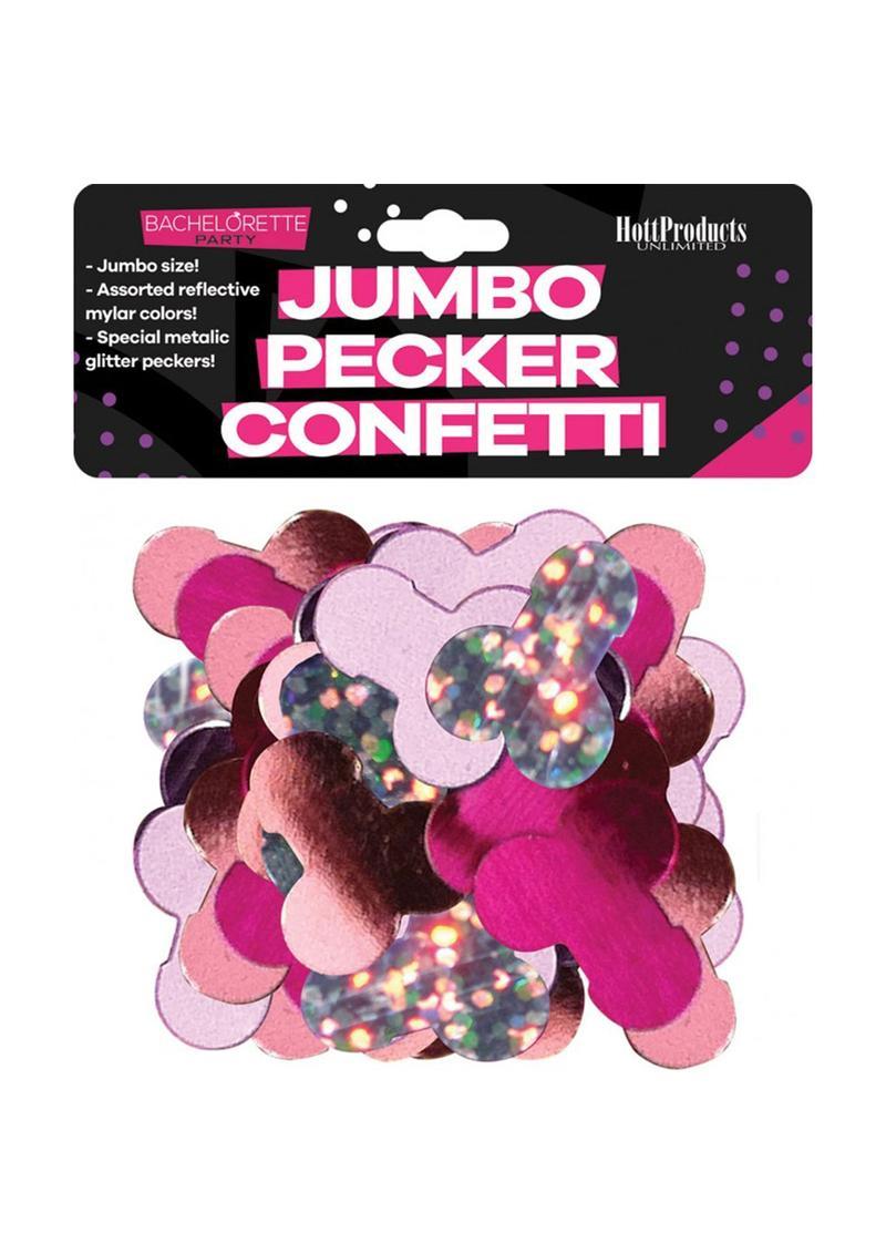 Bachelorette Mylar Party Pecker Confetti Jumbo - Multi-Color