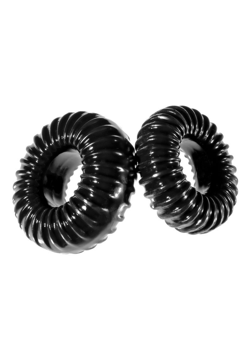 The Xplay PF Blend Premium Stretch Ribbed Ring Slim (2 Pack) - Black