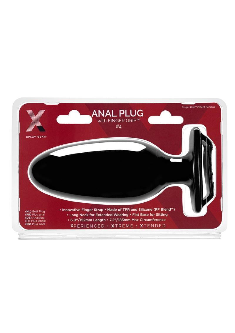 The Xplay Finger Grip Plug 4L - Black