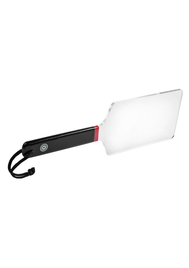 Saffron Acrylic Paddle - Clear/Black