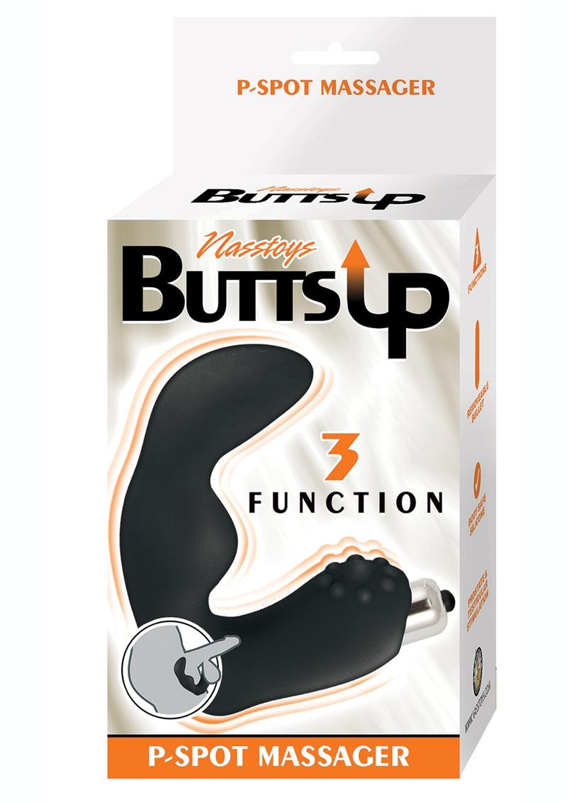 Butts Up P-Spot Massager Silicone Anal Stimulator - Black