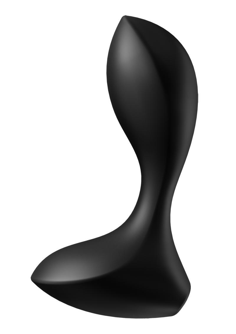 Satisfyer Backdoor Lover Silicone Vibrating Anal Plug - Black