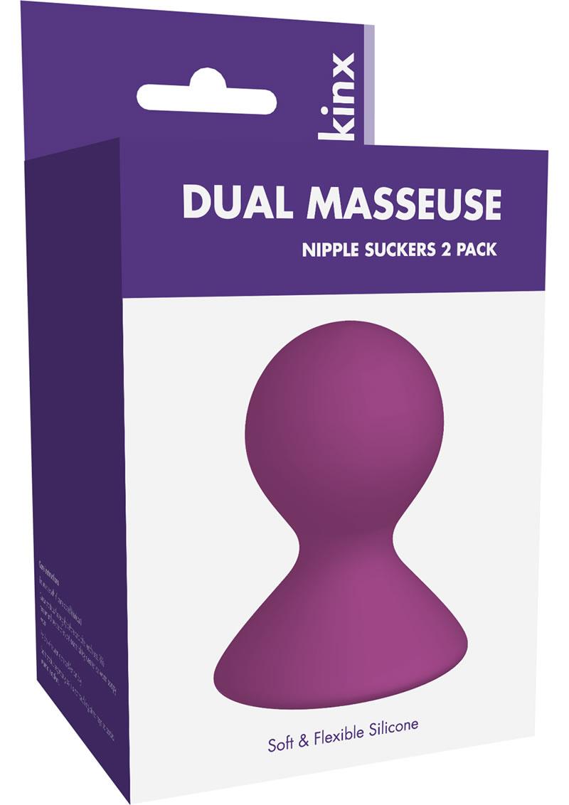 Kinx Dual Masseuse Silicone Nipple Suckers - Purple