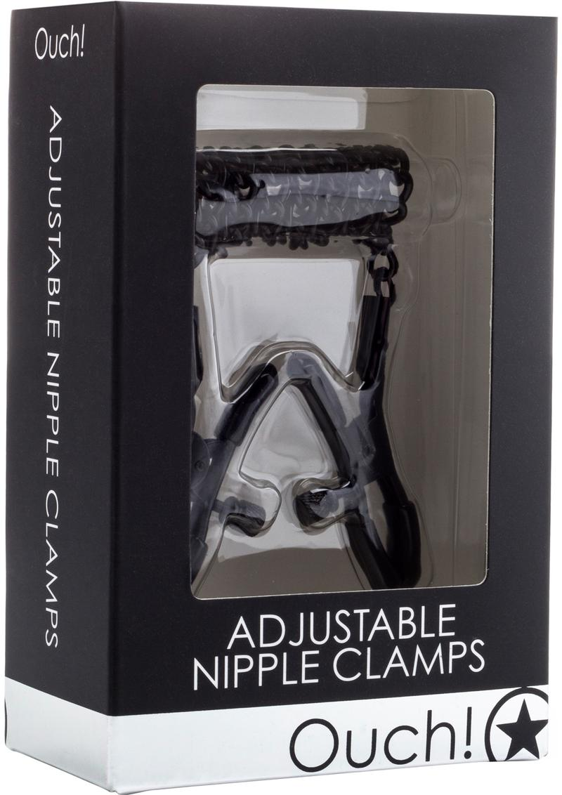 Ouch! Adjustable Nipple Clamps - Black