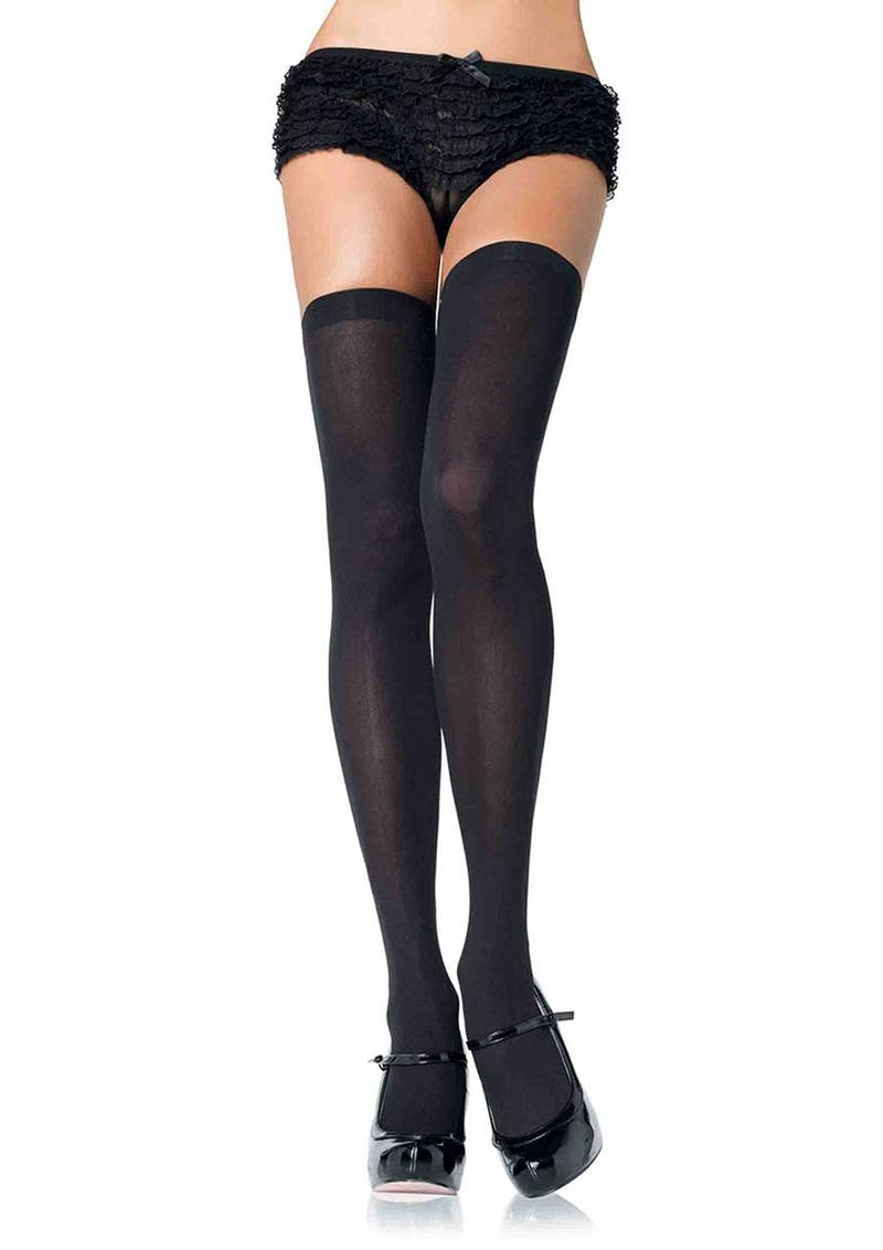 Leg Avenue Nylon Over The Knee - Plus Size - Black