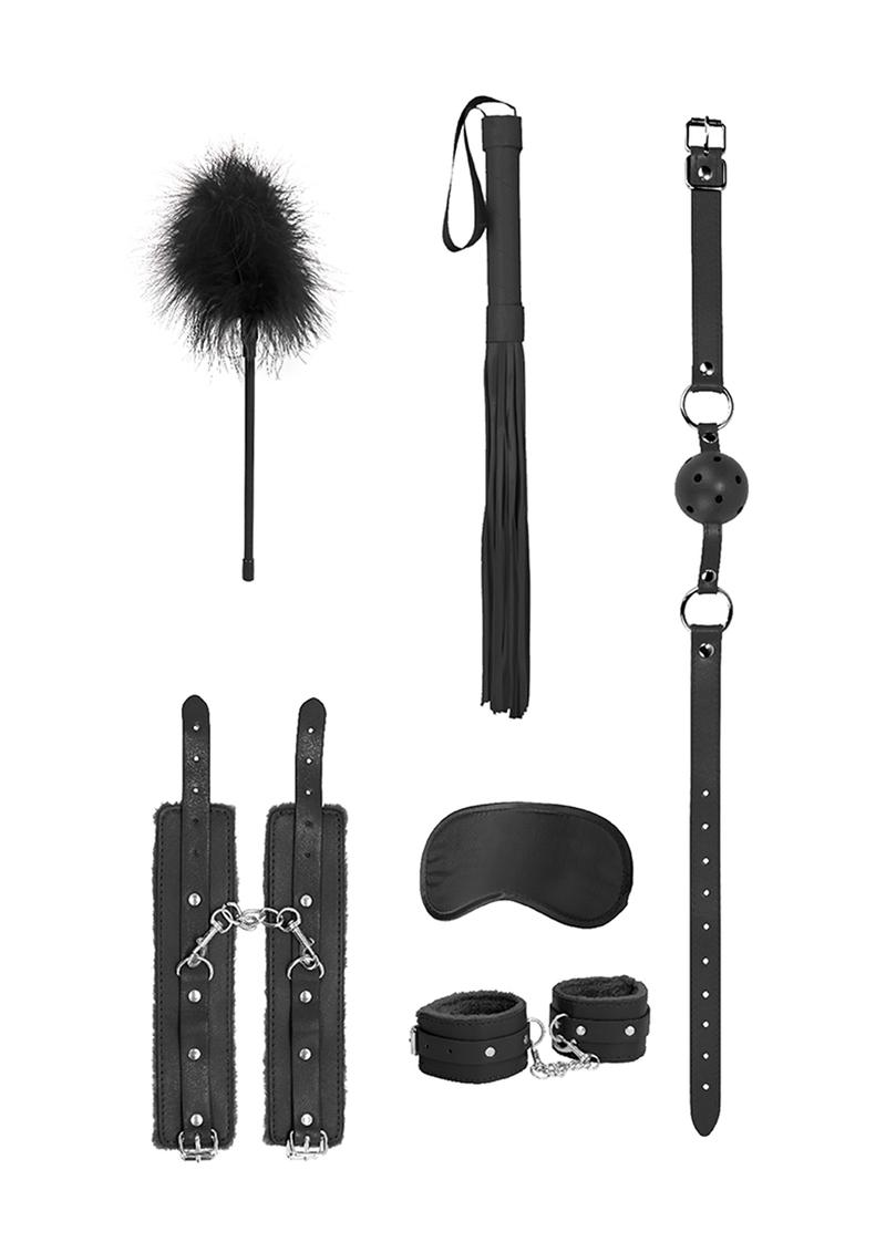 Ouch! Kits Beginners Bondage Kit (6 pieces) - Black