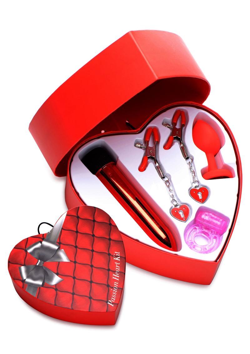 Frisky Passion Heart Kit (Set of 4) - Red/Black