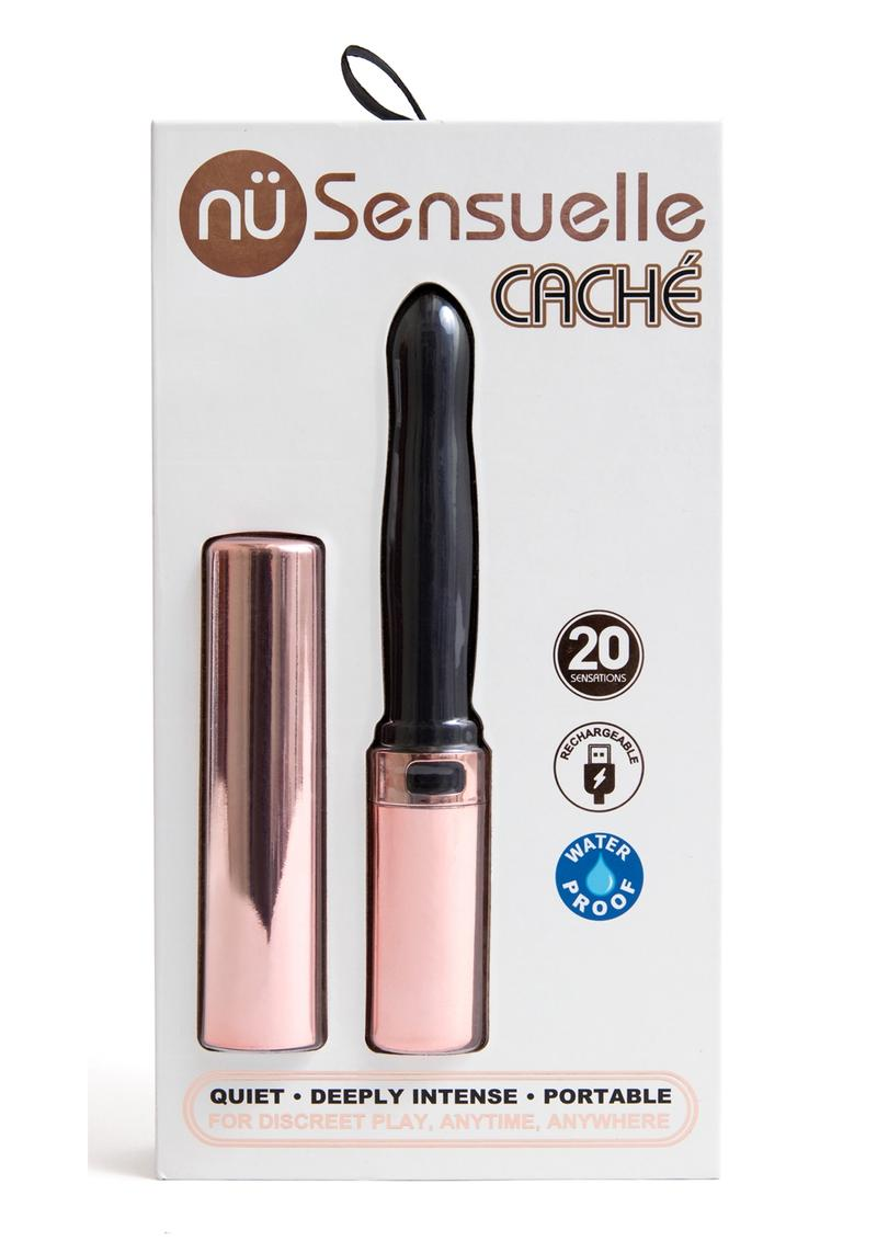 Sensuelle Cache 20 Function Silicone Rechargeable Covered Vibrator - Rose Gold