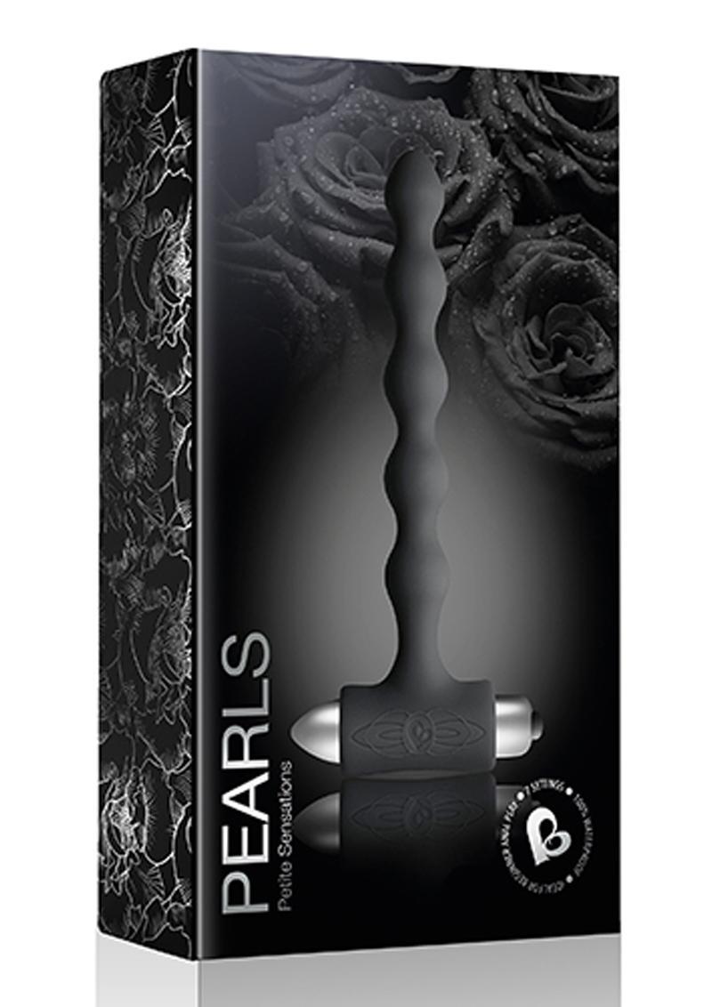 Petite Sensations Pearls Silicone Vibrating Anal Probe - Black