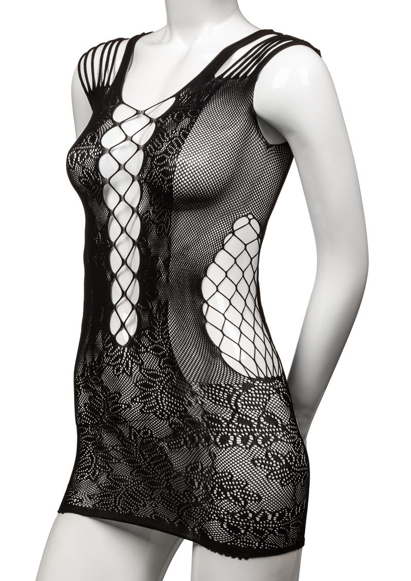 Scandal Peek-A-Boo Mini Dress - Black