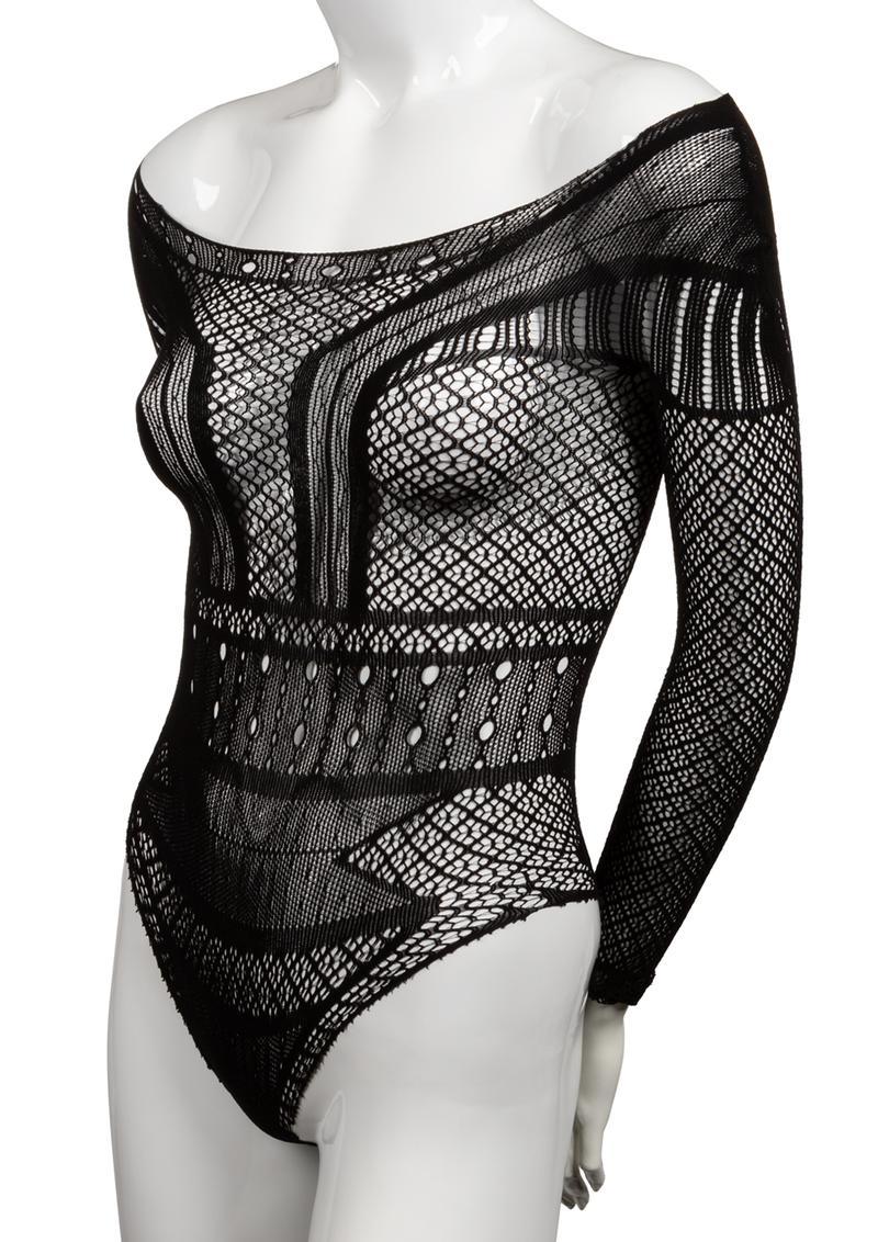 Scandal Off The Shoulder Body Suit - O/S - Black
