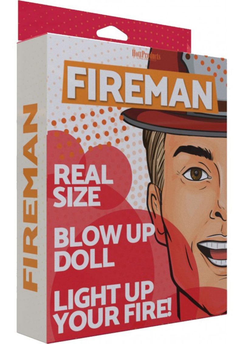 Fireman Blow-Up Doll 5.5ft - Vanilla