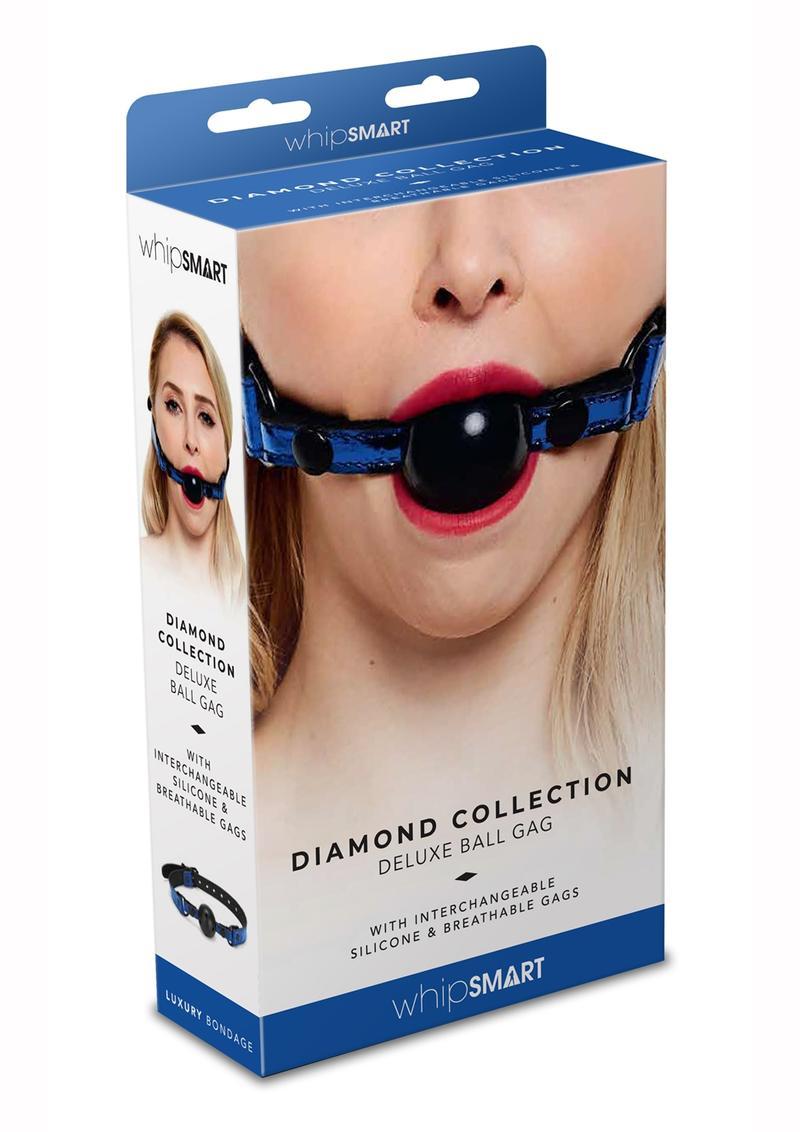 Whipsmart Deluxe Ball Gag - Blue/Black