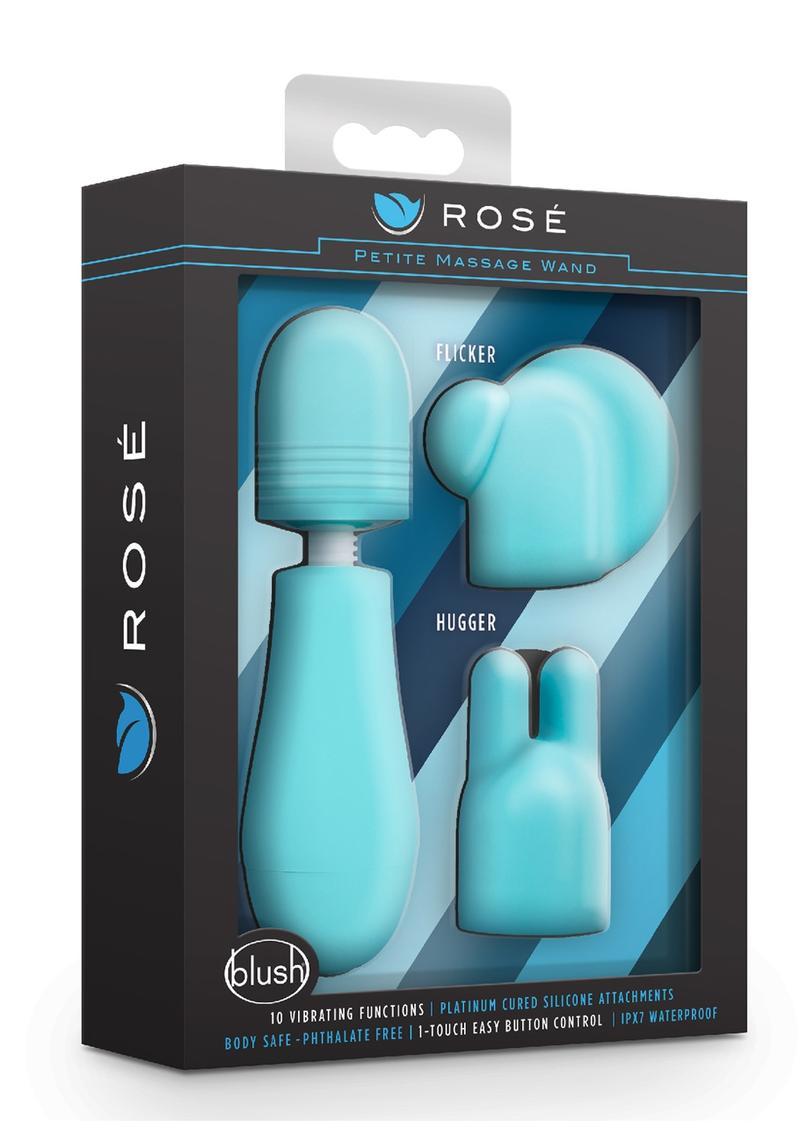 Rose Petite Massage Wand Kit (Set of 3) - Blue