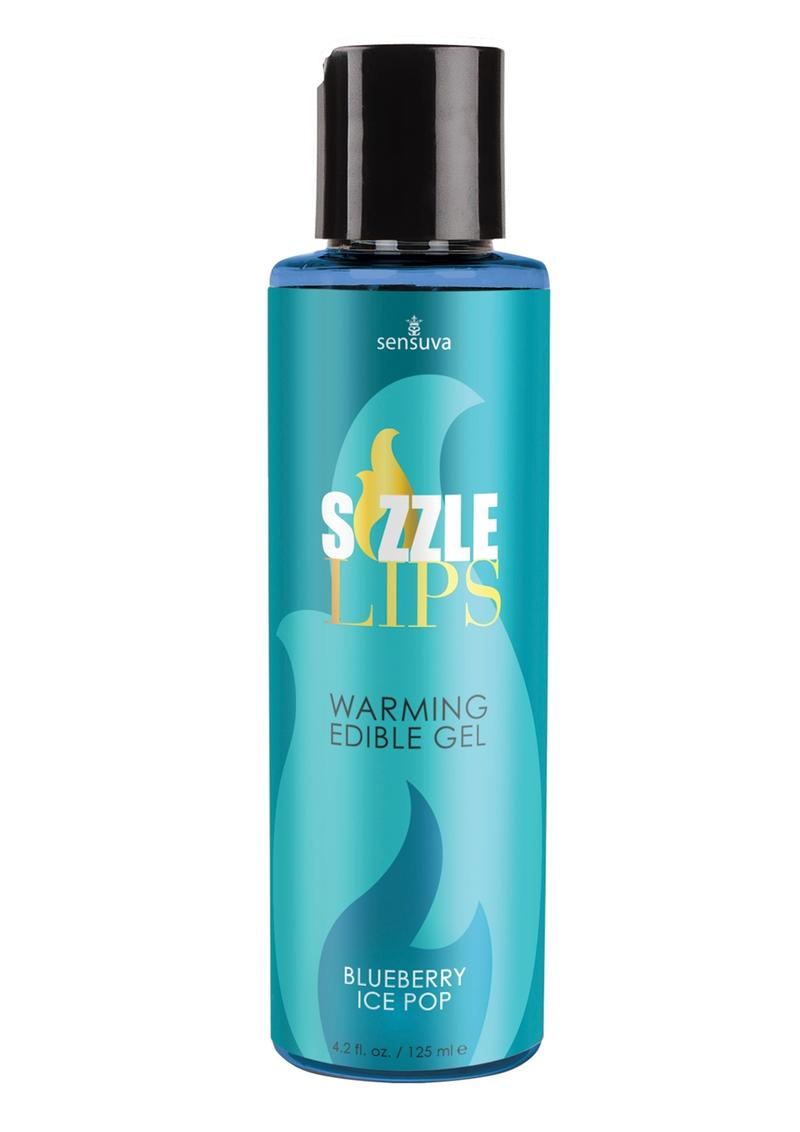 Sizzle Lips Warming Edible Gel Blueberry Ice Pop 4.2oz
