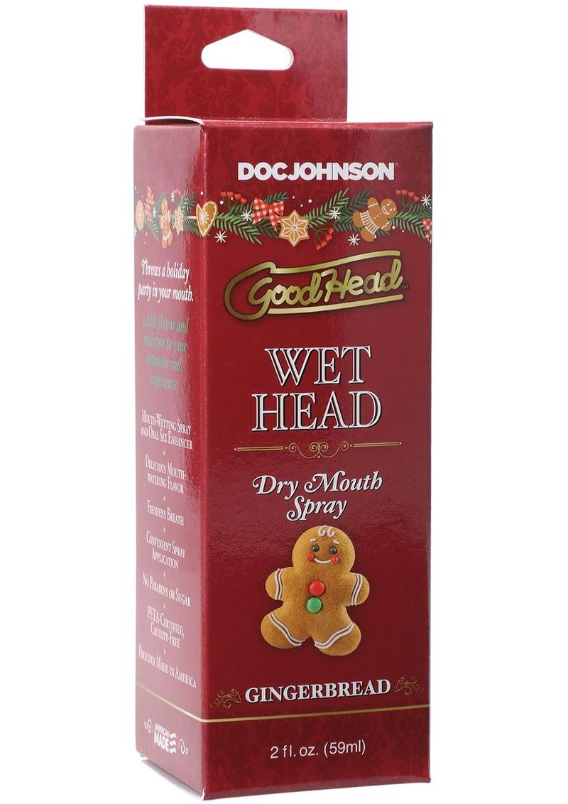 GoodHead Holiday Wet Head Dry Mouth Spray 2oz - Gingerbread Head
