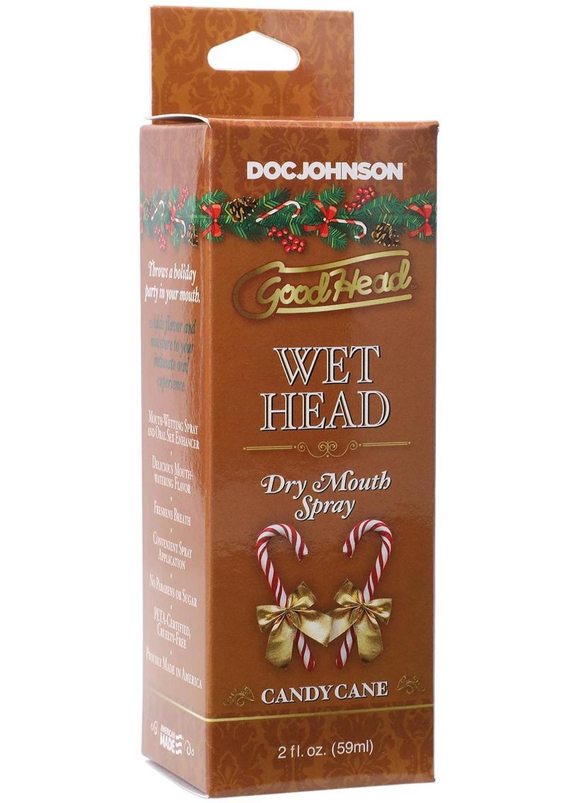 GoodHead Holiday Wet Head Dry Mouth Spray 2oz - Candy Cane