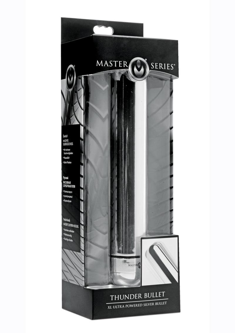 Master Series Thunder Bullet XL Ultra Powered Bullet - Silver